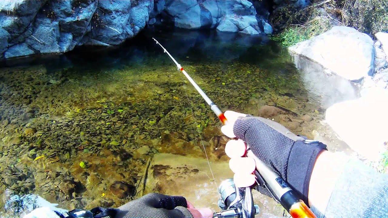 Urban trout fishing southern california youtube for Trout fishing southern california