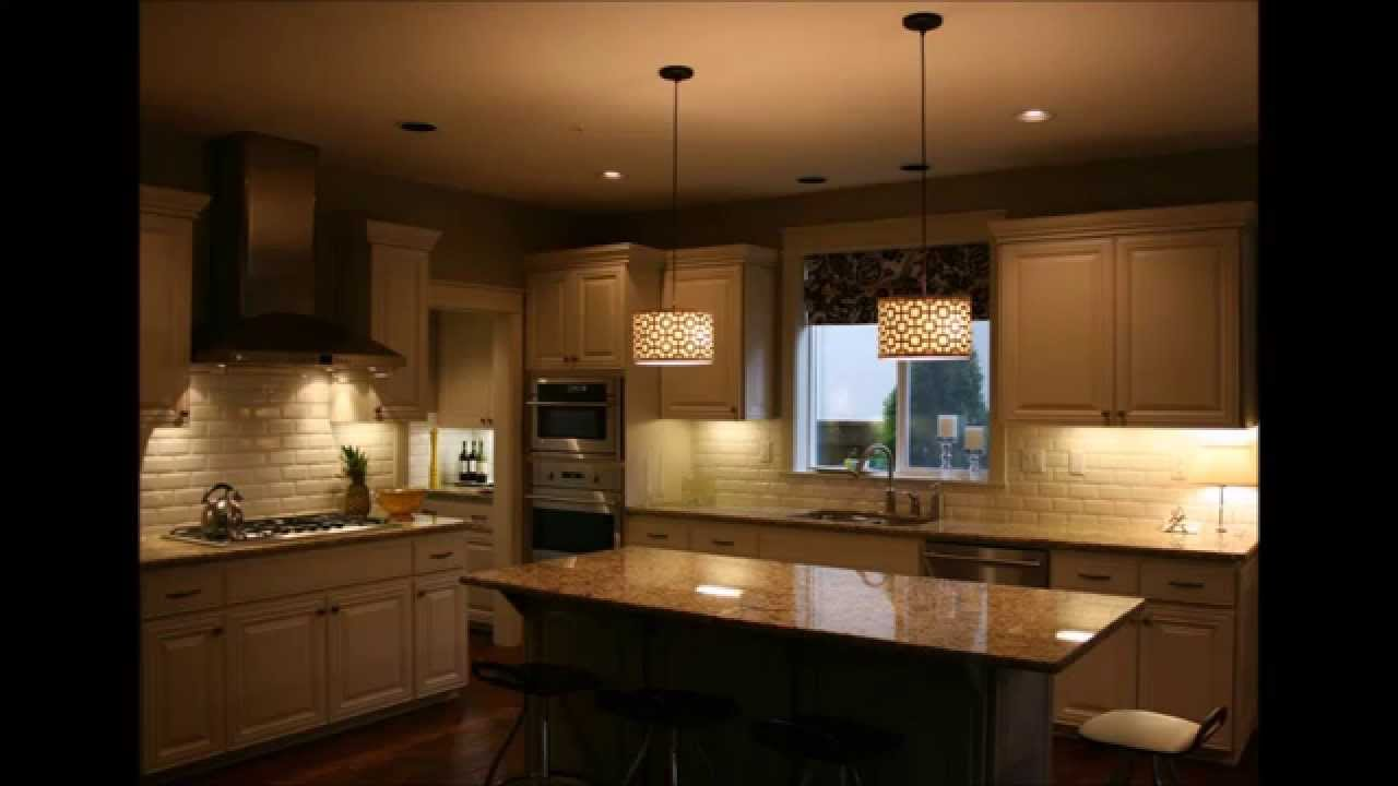 Island Lights Kitchen Captivating Pendant Lightings Over Kitchen Island Youtube