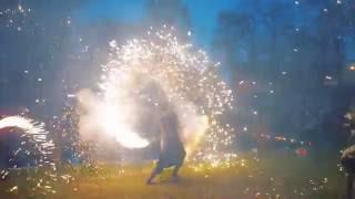 Фаер-шоу на свадьбу   Огненное сердце   Театр огня и света «БезГраниц»