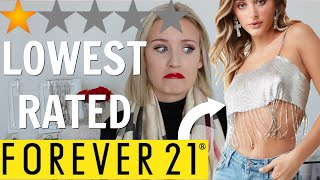 I BOUGHT THE LOWEST RATED ITEMS ON FOREVER 21