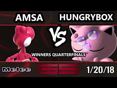 GENESIS 5 SSBM - Liquid'Hungrybox (Jigglypuff) VS VGBC | aMSa (Yoshi) - Smash Melee WQF