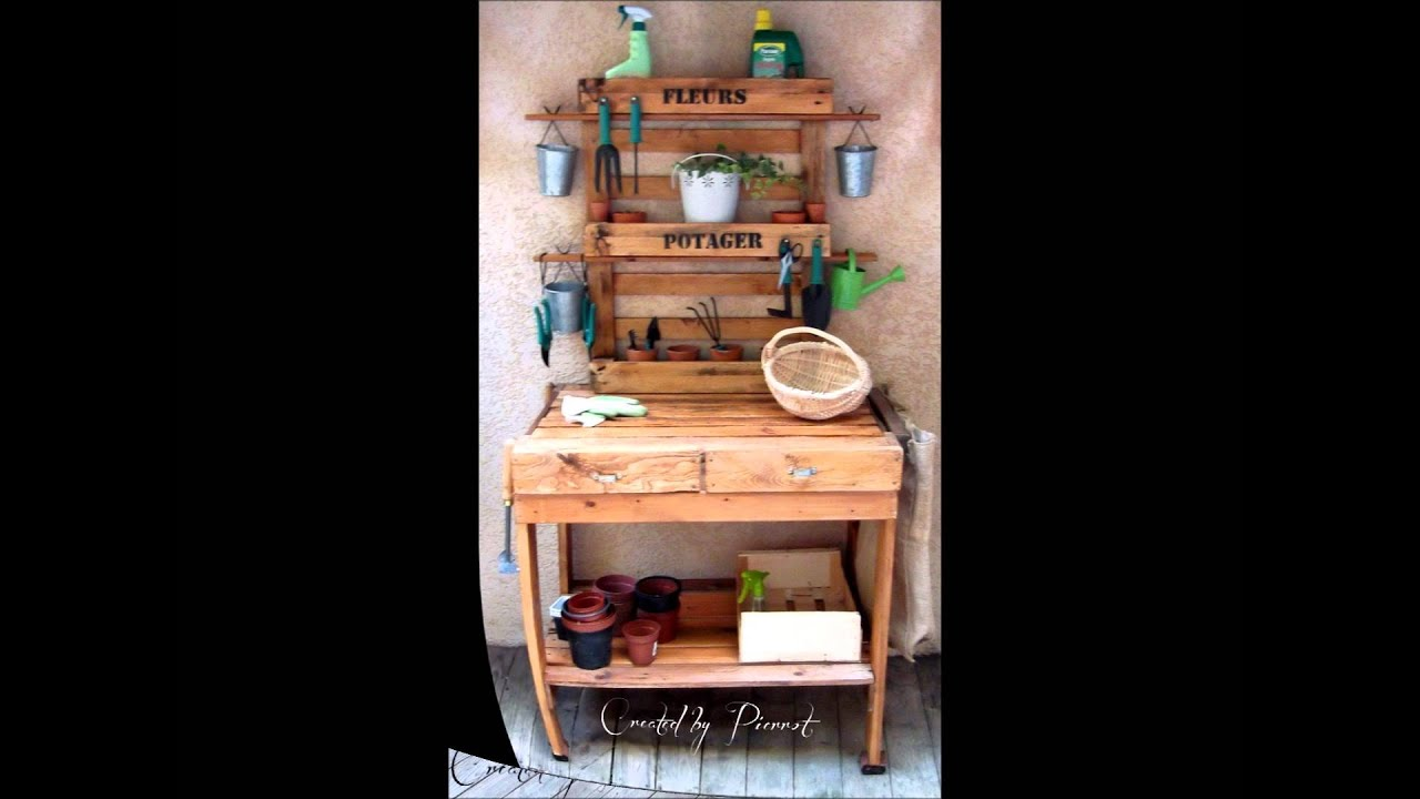 Table rempoter youtube - Table palette de bois ...