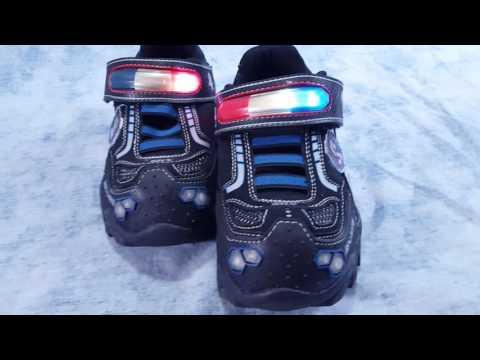 Sketchers Hotlights 911 Police Flashing Lights Size 3 FOR SALE
