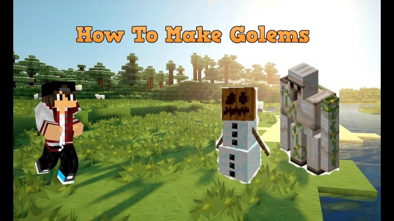 Minecraft Quot How To Make Iron Golem And Snow Golem