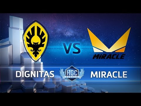 HGC Finals 2018 - Game 1 - Dignitas vs. Miracle - Bracket Stage Semifinals