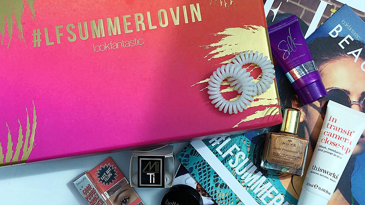 July 2016 Lookfantastic Beauty Box Unboxing