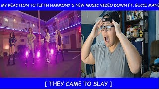 Video My Reaction To Fifth Harmony's New Music Video Down Ft. Gucci Mane download MP3, 3GP, MP4, WEBM, AVI, FLV Januari 2018