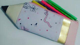 Veja Como Fazer Estojo Em Forma de Lápis