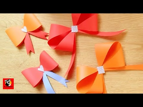 #bow #ribbon | How to make a bow with paper | How to make a bow from paper | #paper #BowFromPaper
