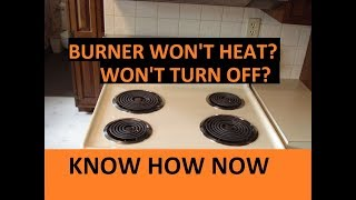 Electric Stove Burner Not Working - Troubleshoot it!