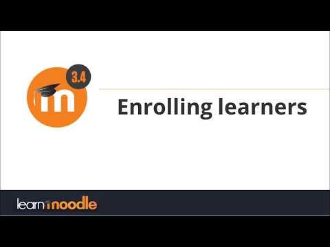Enrolling learners: Moodle 3.4