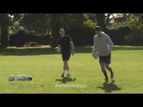 Stephen Cluxton & Johnny Sexton in the #WhatDrivesYou Crossbar Challenge