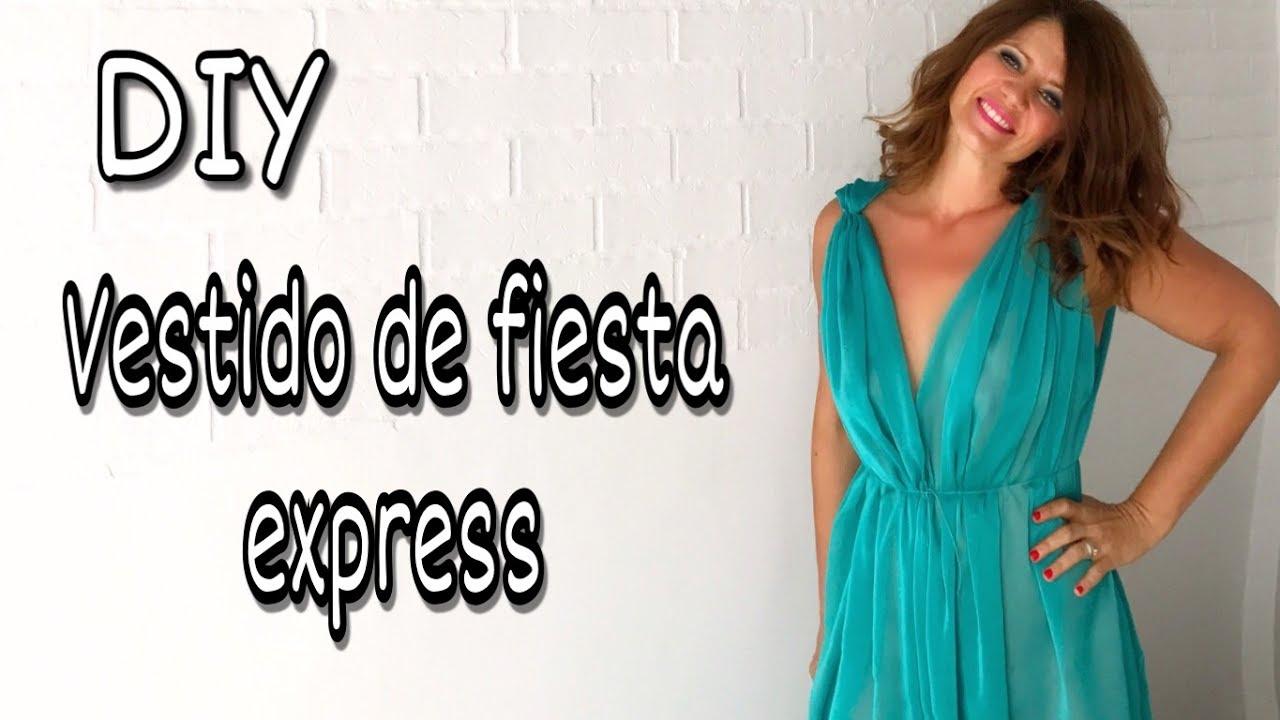 DIY Cómo hacer el vestido de fiesta más fácil del mundo - YouTube
