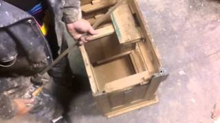 Skips Custom Refinishing.... Refinishing an old green Dry Sink.