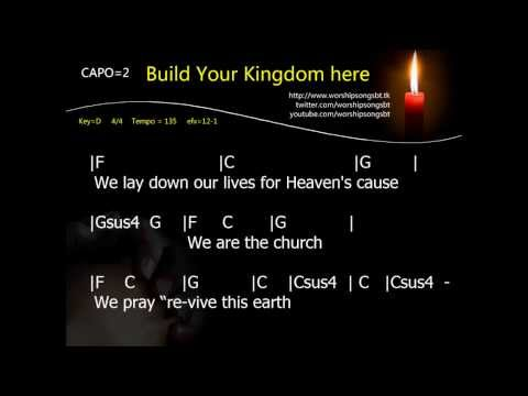 Build Your Kingdom here Karaoke, backing track, cover
