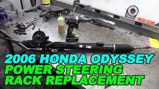 2006 honda odyssey power steering rack replacement