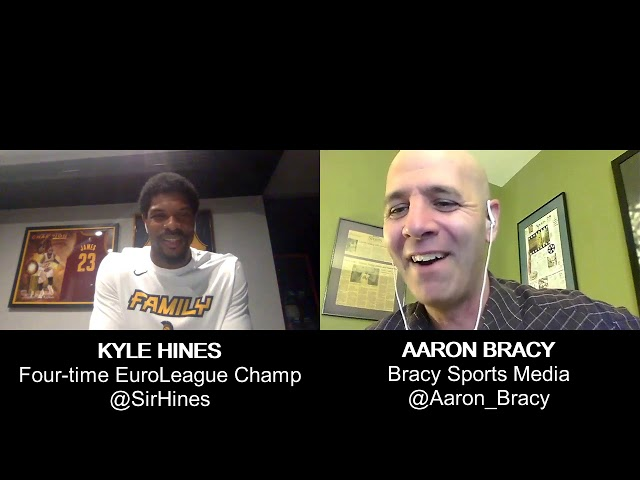 CSKA Moscow's Kyle Hines of Sicklerville, NJ interviews with Bracy Sports Media