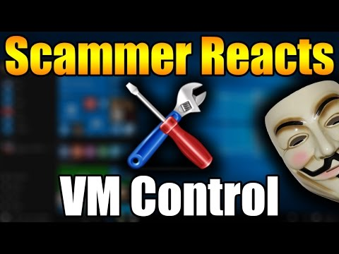 Scammer Versus VM Control + Anonymous Virus! | Tech Support Scammer Trolling