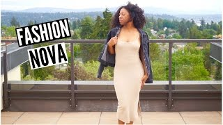 Spring Fashion Nova Try On Haul 2016 | T'keyah B