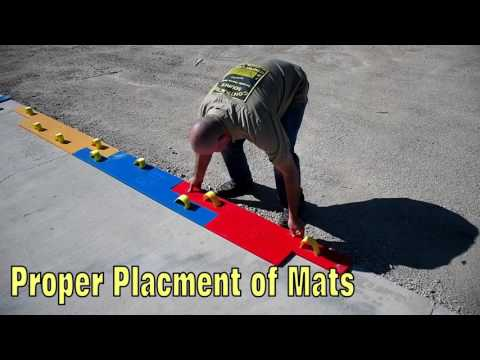 How to stamp concrete - Weather Wood Plank Decorative Concrete Stamp Placement Instructional