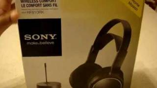 sony mdr rf810 wireless headset unboxing