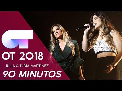 """90 MINUTOS"" - JULIA & INDIA MARTINEZ | GALA NAVIDAD | OT 2018"