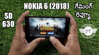 Nokia 6 (2018) Gaming Review & Heating Test ll in telugu ll