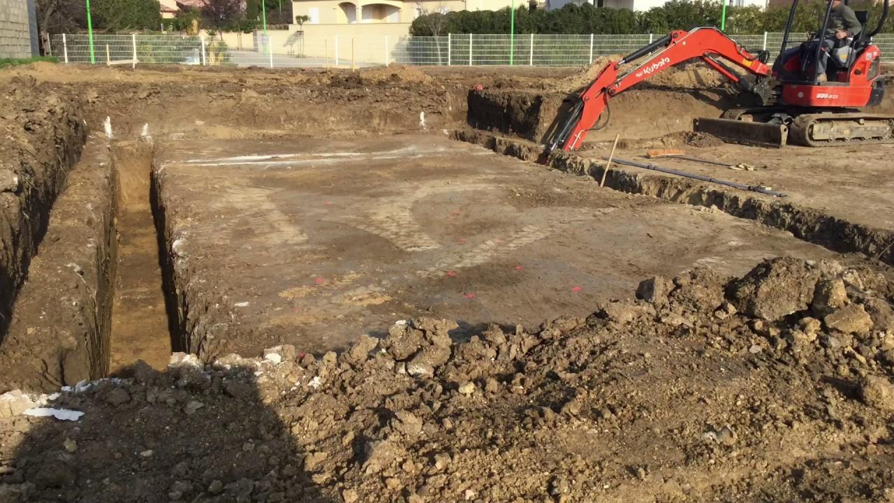 terrassement plate forme vide sanitaire et fondation villa