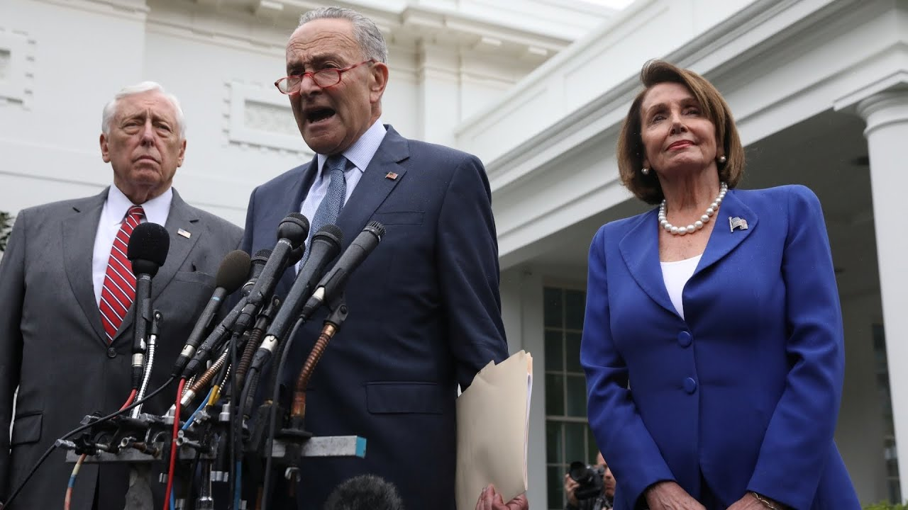 Schumer Hoyer Slam Trump For Insulting Pelosi At White House Meeting