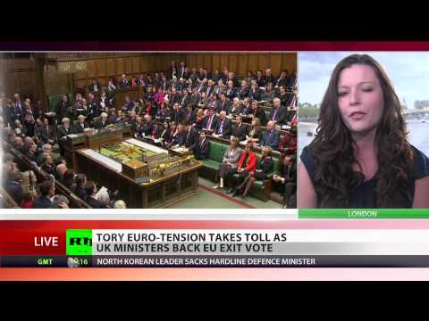 Tory Euro-Tension: UK ministers back EU exit vote