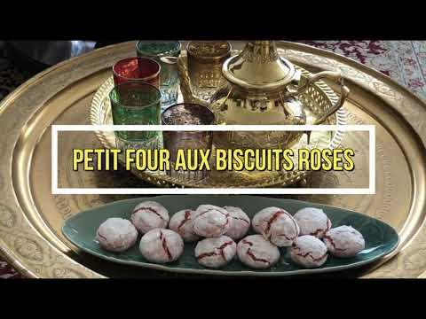 Recette : four aux biscuits roses de Reims. Léger ,onctueux, craquant غريبة بإللوز وبىسكوي الفرنسي