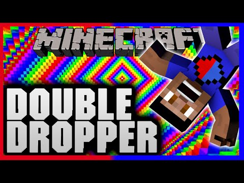 Minecraft DOUBLE DROPPER CHALLENGE with Vikkstar & PeteZahHutt (Minecraft Dropper Map)