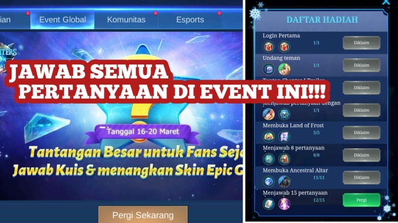 Jawaban pertanyaan dari event skin epik freya Mobile ...