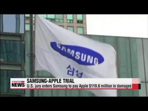 U.S. jury orders Samsung to pay Apple $119.6 in damages