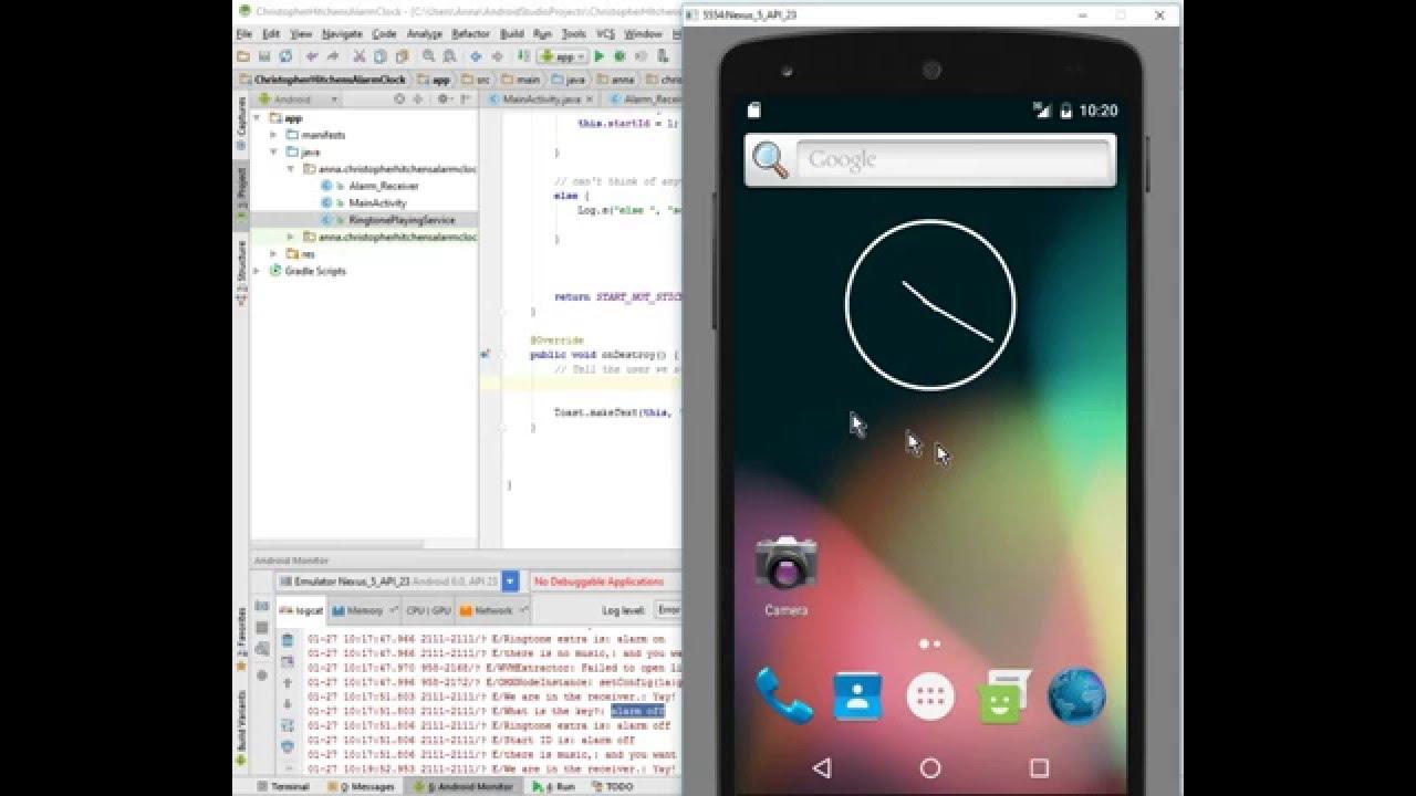 Android alarm clock tutorial: part 7, Ringtone Service III