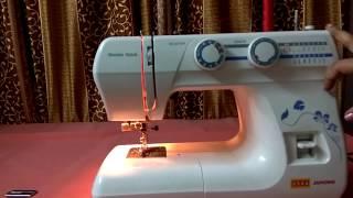 Usha janome wonder stitch machine demo in easy way.