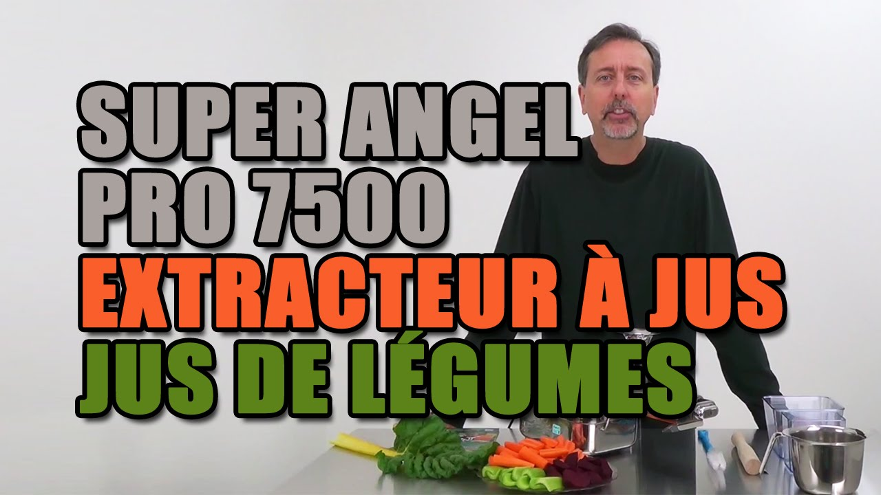 extracteur jus super angel pro 7500 jus de l gumes youtube. Black Bedroom Furniture Sets. Home Design Ideas