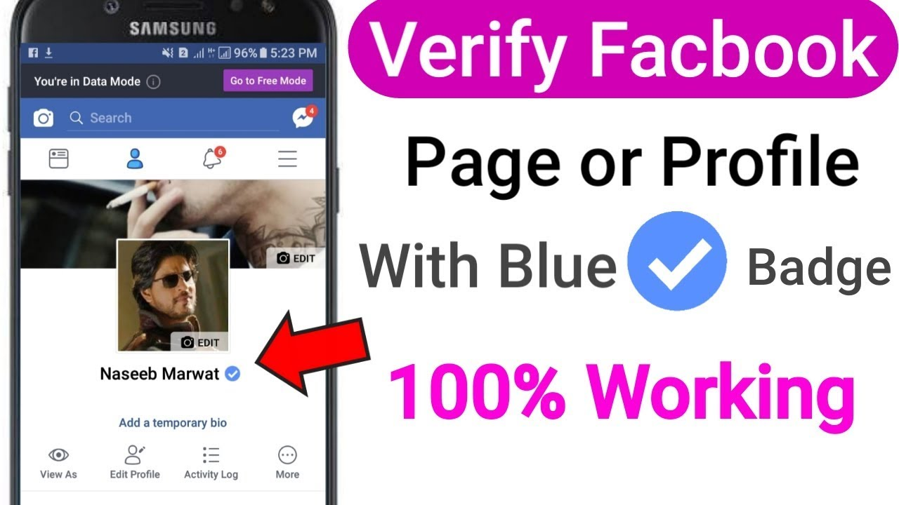 How to verify facebook profile with blue badge - YouTube