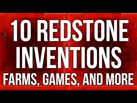 10 Minecraft Inventions - Auto Farms, Games, and Tutorials