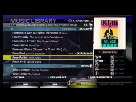 RB3 Song List Before PSN Store Restored