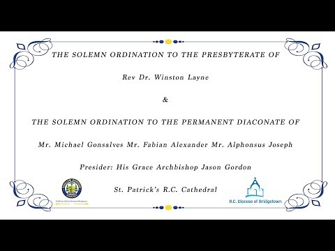 The Solemn Ordination to the Presbyterate and the Permanent Diaconate