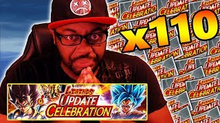 SO MANY SPARKING CARDS!! NEW DRAGON BALL LEGENDS 110 TICKET SUMMONS HYPE!!