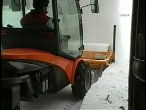Aebi Tc07 Mb Broom In Deep Snow 01 Youtube