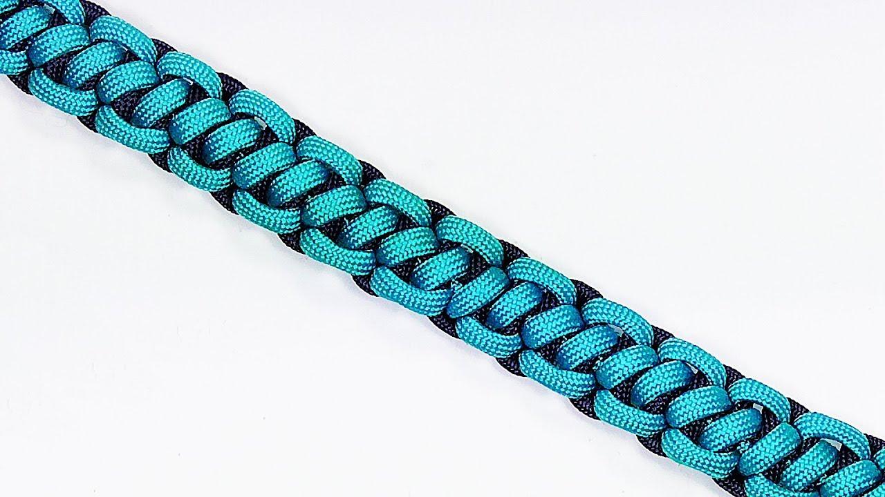 Paracord Tutorial Bootlace Solomon Bar Parachute Cord Bracelet