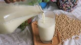 Easy and Healthy Homemade Soy Milk [原味豆浆]