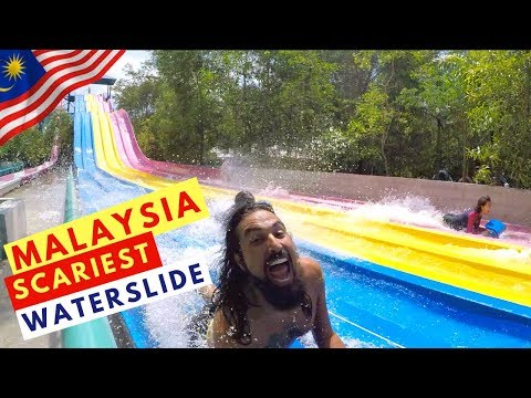 FOREIGNERS REACT TO MALAYSIA WATERPARK   ESCAPE PARK    BATU FERRINGHI TRAVEL GUIDE   TRAVEL COUPLE