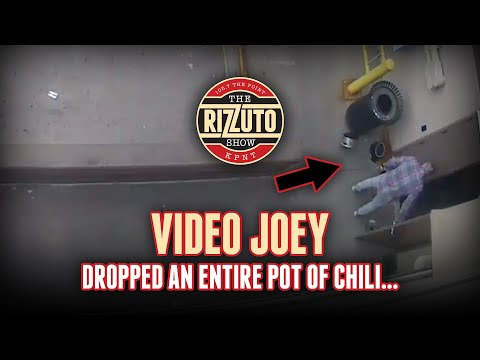 The chili disaster... Video Joey dropped a pot of chili right in front of the office [Rizzuto Show]