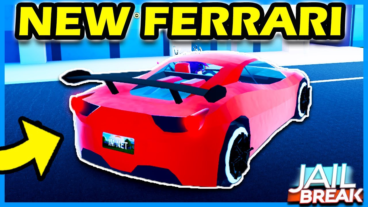 New Revamped Ferrari In Roblox Jailbreak 4 In 5 Days Vehicle Jailbreak New Vehicle Update Youtube