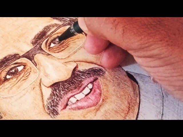 CM Uddhav Thakeray | Ball Pen Painting by Vishal Garad