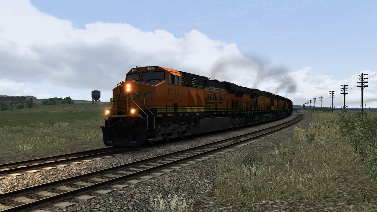 Train Simulator : BNSF Oil Train Notch 8 and Lots of Horn